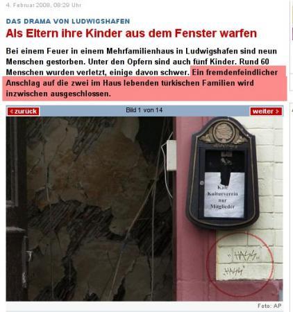 Hass, Runen, Deutschland und Türken ohne Manieren.