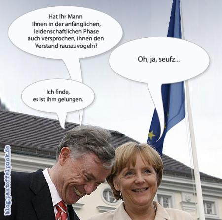 abgehört: Köhler und Merkel