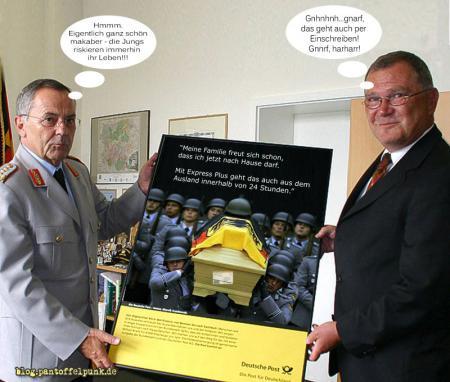 Die deutsche Post, die Bundeswehr und die Reklamenutten.