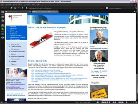 Erste deutsche blogs und kritische News-Seiten gesperrt