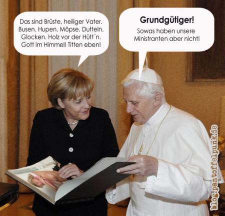 Der Papst muss doch nur mal richtig durchgevögelt werden!