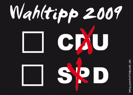 Mein Wahltipp f&#252;r 2009