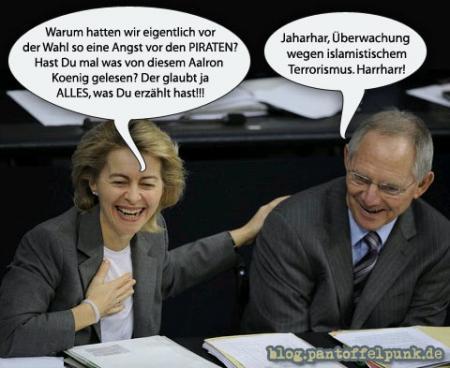 Aalron Koenig: Leichte Beute des Hasspredigers Schäuble.