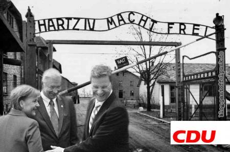 "Roland ""Hessen-Hitler"" Koch: Hartz IV macht frei!"