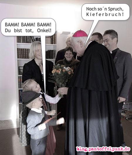 Schlägertype Bischof Walter Mixa