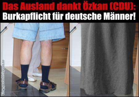 Burkapflicht für deutsche Männer!