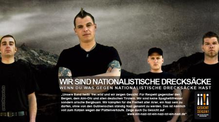 frei.wild, nationalistische Kackscheißband
